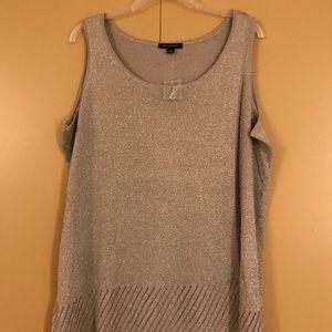 H by Halston sleeveless knit shell NWT 1X